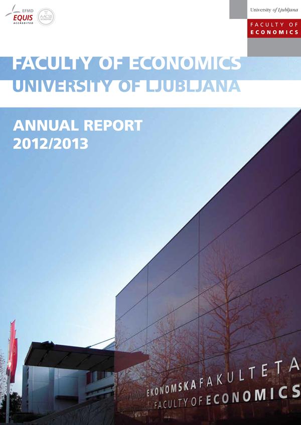 annual reports faculty of economics university of ljubljana